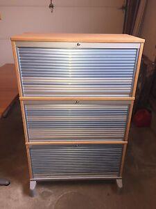 IKEA Effektiv 3 drawer Filing cabinet Roll-front cabinet $150