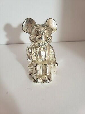 Vintage mickey mouse Silver coin bank