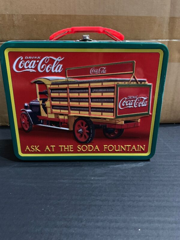 Coca-Cola Tin Lunchbox-Ask At The Soda Fountain-The Tin Box Company-2012-Used