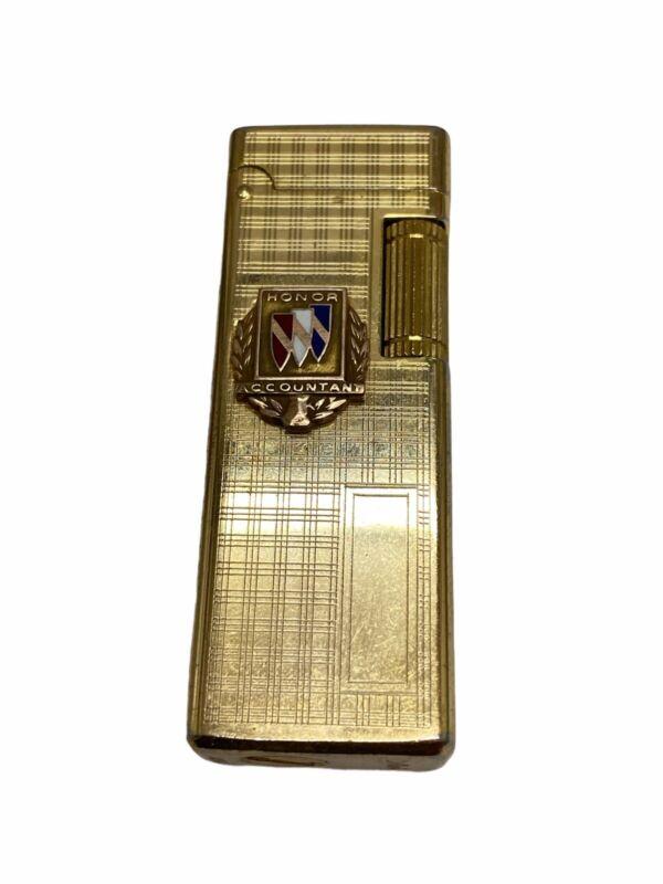 Vintage Colibri Gold Tone Flip Top Roller Lighter Slim Refillable Made in Japan
