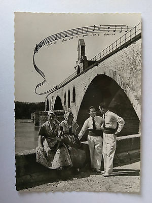 Avignon France Vintage B&W Postcard c1938  Local Costumes