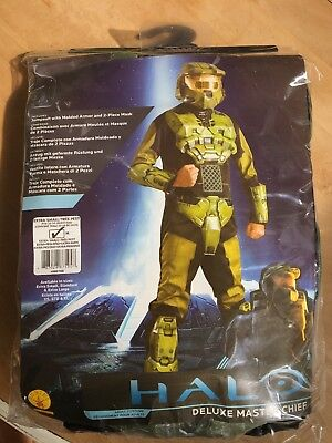 Halo Deluxe Master Chief Adult Costume X-Small (Children's Large) NO HELMET (Childs Halo Costume)