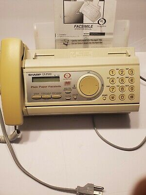 Sharp Ux-p100 Plain Paper Fax Machine Tested Working