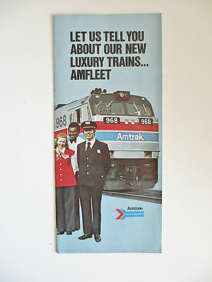 Vintage 1976 Amtrak Railroad Amfleet Equipment Train Promotional Brochure
