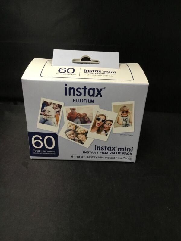 Authentic FujiFilm Instax Mini Film Value Pack - 60 Exposures (EXPIRES 08-2022)