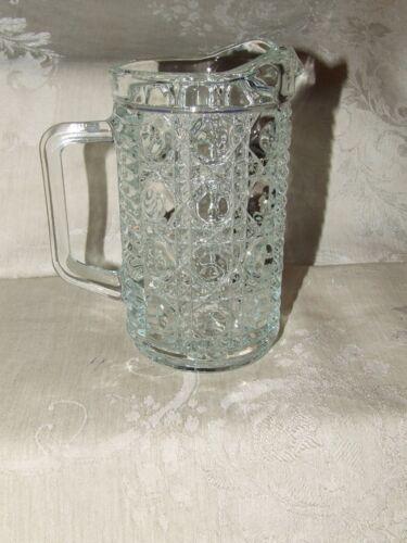Vintage 1974+ FEDERAL Glass WINDSOR Clear Large PINT Creamer Pitcher Big Block