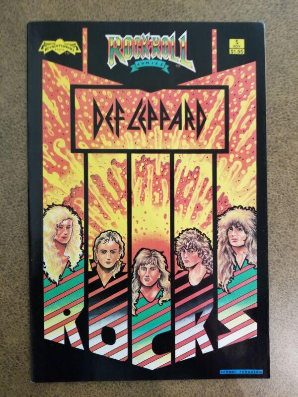DEF LEPPARD Revolutionary Rock N Roll Comic #5 (NOV 1989) Mint Never Read