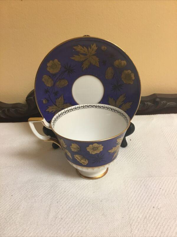 Vintage Tuscan Bone China Tea Cup And Saucer