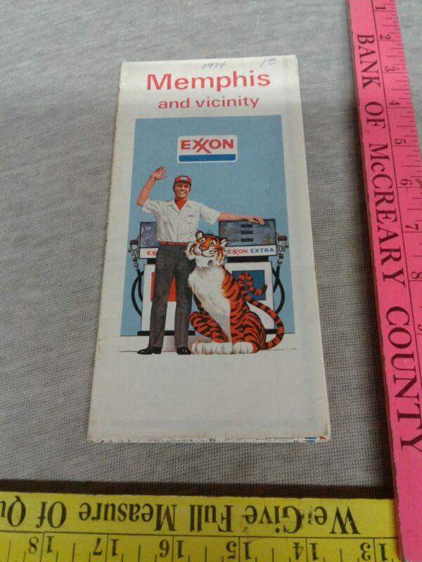 Memphis And Vicinity Exxon 1974 Map