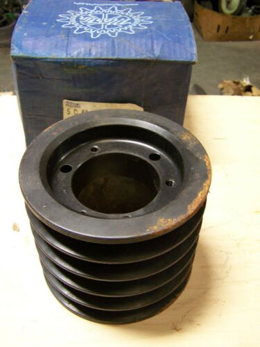 Martin 5C60SF Cast Iron V-Belt Pulley Sheave 5 Groove 6.4 OD SF Bushing Type New