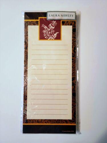"Laura Ashley Memo Pad Brand New Sealed Magnet 80 sheets 8"" X 3 1/2"""