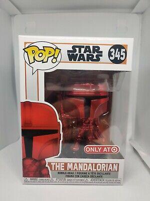 Funko POP Star Wars 345 red metallic MANDALORIAN Target redcard exclusive 2020