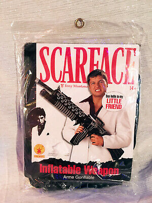 2x Scarface Tony Montana Inflatable Weapon Machine Gun  Halloween Prop - Tony Montana Halloween