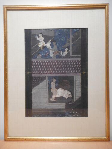 Painting Indian Antique Kamasutra Indian Hindu India Game Erotic 1