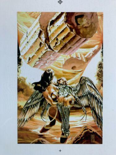 Color Production Art WONDER WOMAN #201 cover, J. G. JONES art, 8.5x11
