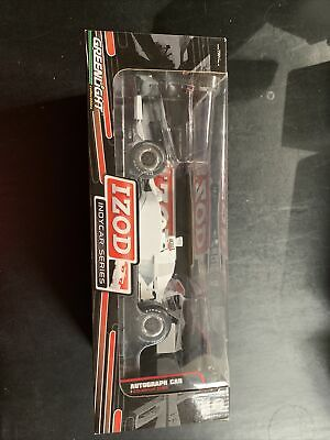 Greenlight 1/18 Izod Indycar Series Die Cast White Autograph Car Limited Edition
