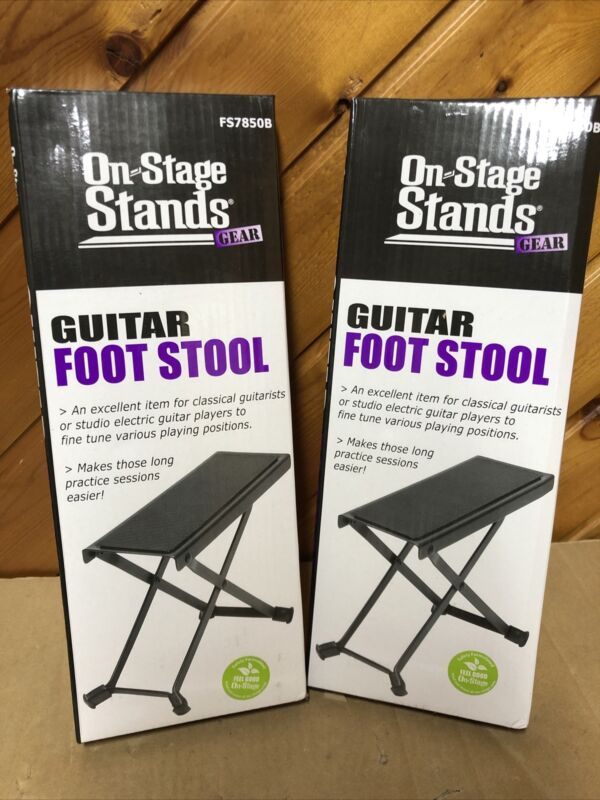 Lot of 2 On-Stage Stands FS7850B Foot Stool Brand New