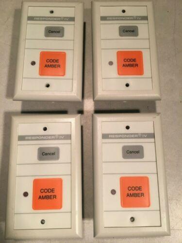 qty 4 Rauland Responder IV Nurse Call  Wall Plate Code Amber NCSPB1