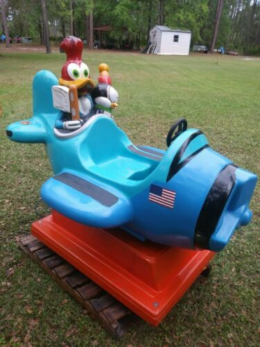 Coin Operated Kiddie Ride, Woody Woodpecker Plane