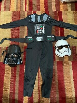 Star Wars Darth Vader Youth Small Costume w/extra Storm Trooper Mask