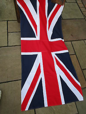 "Vintage Ex army UNION JACK FLAG BRITISH MADE Approx 7ft  x 3ft 11"" quality"
