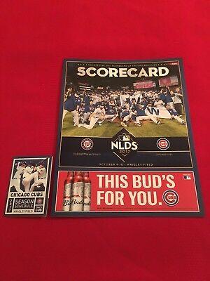 2017 Mlb Chicago Cubs Nlds Playoffs Scorecard   Schedule   Nationals   Bryant