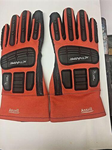 Activarmr 97-200 Size 11(XL) Leather, Flame / Impact Resistant Oilfield Gloves