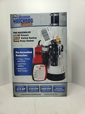 New Basement Watchdog Dfk961 13 Hp Combination Primary And Backup Sump Pump