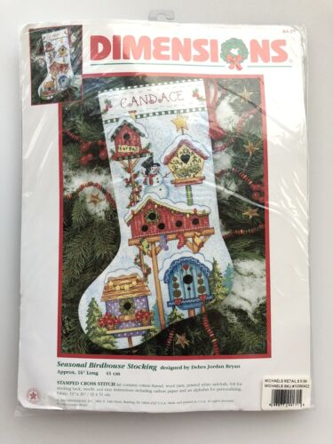 Dimensions Christmas Holiday Stamped Cross Stitch Stocking K