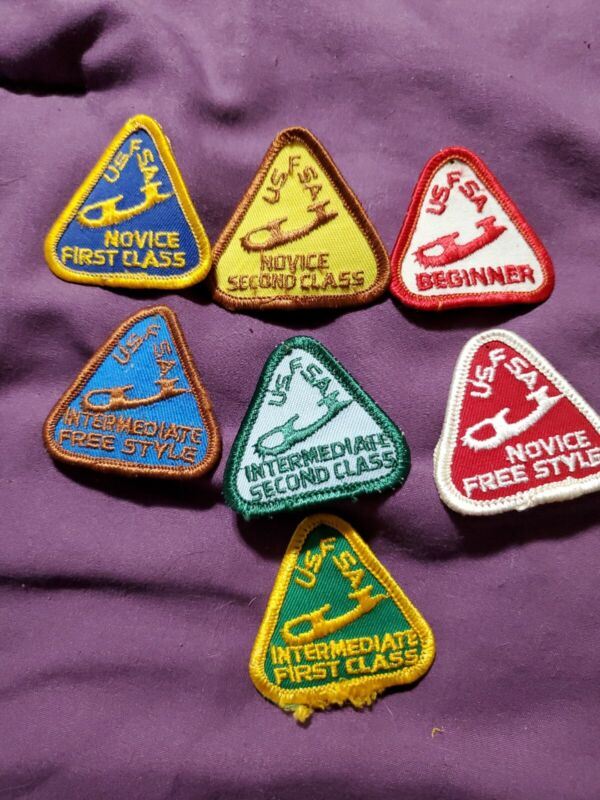 vintage United State figure skating association Patch Lot of 7 Patches