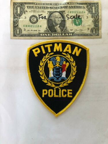 Pitman New Jersey Police Patch un-sewn in Great Shape