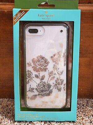 Kate spade iphone 8/7/6 plus case new, metallic floral