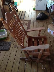 Antique glider rocking chair.