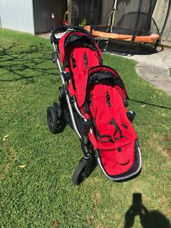 Baby Jogger City Select (Red) Double Stroller Bundle