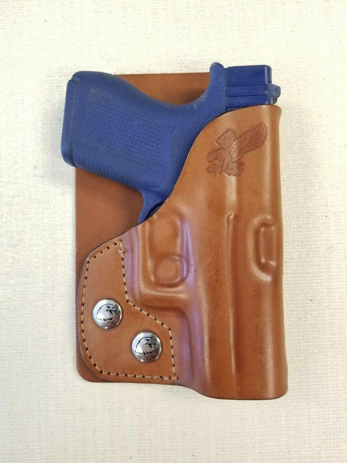 Braids Holsters LEFT HAND brown leather wallet & pocket hols