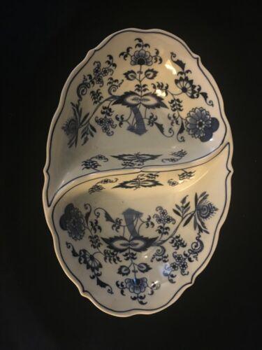Blue Danube - Oval Divided Vegetable Bowl