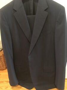 Blue stripe Canali suit, from Harry Rosen, 44 Reg