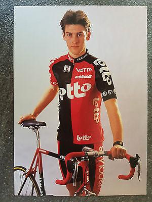 AK o.Orig.AG Nico Mattan Team Lotto 1995 Rarität!