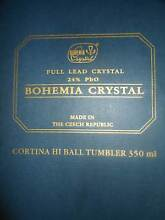 """""""Cortina"""" Bohemia Crystal 24% PbO HI BALL TUMBER 350ml x 6 -BOXED Albion Park Shellharbour Area Preview"""