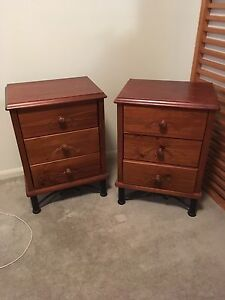 Bedside tables x2 solid timber Bulimba Brisbane South East Preview