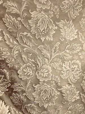 TAUPE BROWN FLORAL UPHOLSTERY DRAPERY BROCADE FABRIC (60 in.) Sold By The -