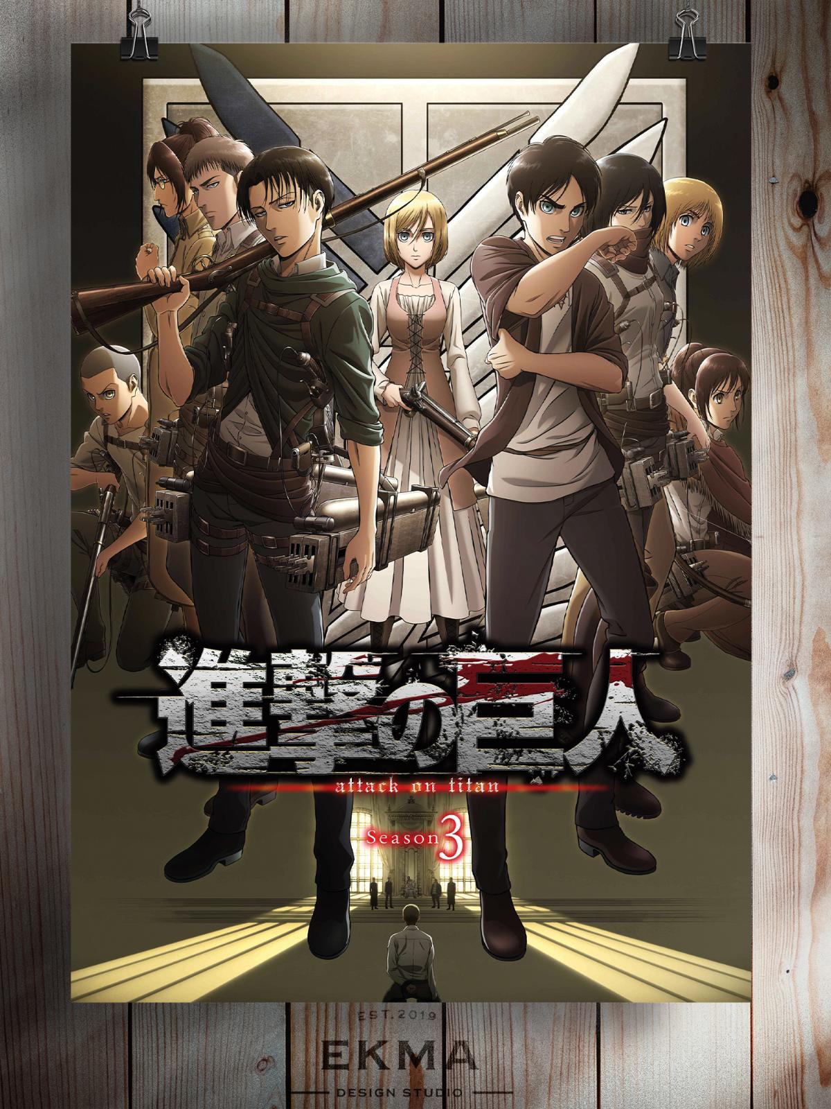 Attack on Titan Season 3 Anime Manga Poster Art Print A3 ...