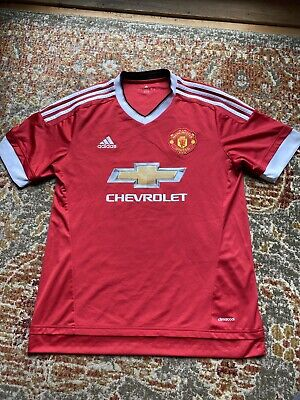 ⚽️ Adidas MANCHESTER UNITED 2015/16 Large Home Soccer Jersey Football Shirt ⚽️ image