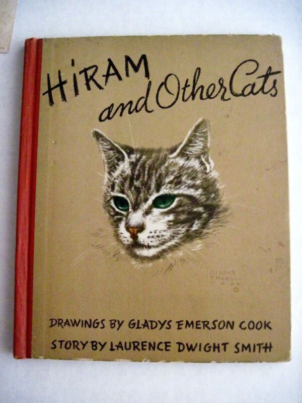 """Gladys Emerson Cook Drawings In Vintage 1941 Book """"Hiram & Other Cats"""" *"""