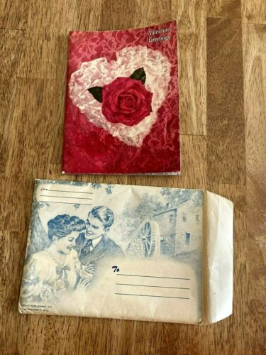 Vintage Valentine Greeting Booklet 1957