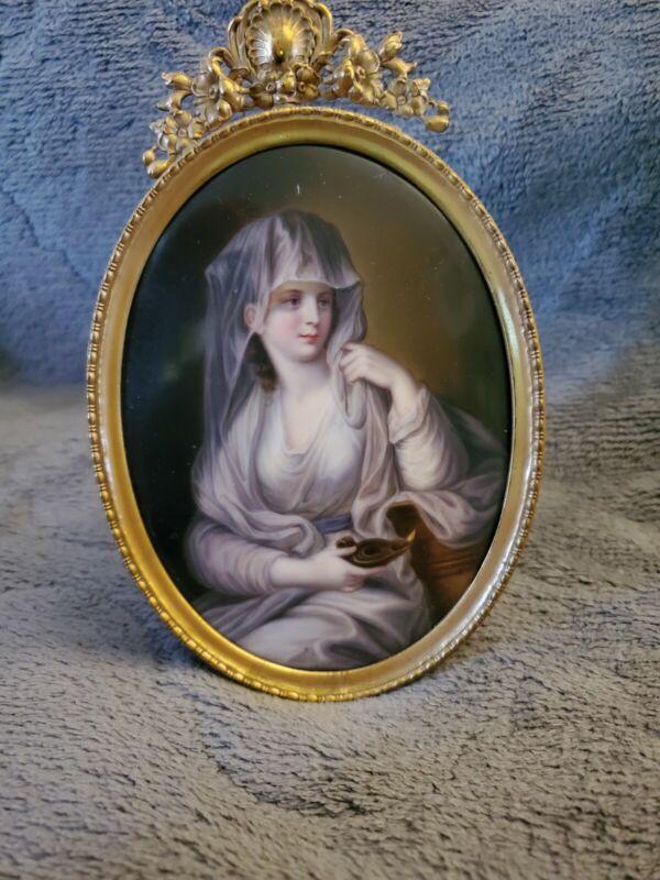 Porcelain Plaque Depicting the Duchess of Devonshire as the Vestal Virgin
