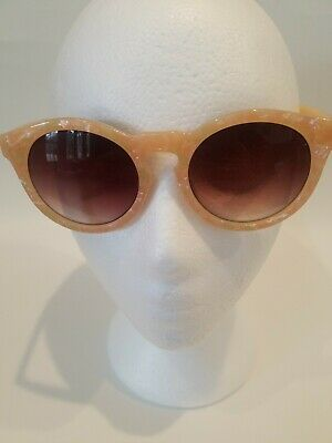 AMERICAN EAGLE SUNGLASSES 5078 Coral Stone Round  Ladies Sunglasses Color Coral