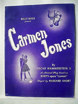 CARMEN JONES Souvenir Program MURIEL SMITH / LUTHER SAXON NYC 1943