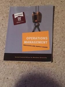 Operations Management- process and supply chains