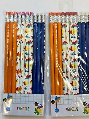 Fall Themed Parties (20 (2 packs /10) Fall themed Pencils Classroom Reward Party Favor leaves)